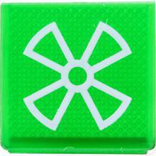 Wipschakelaar symbool groen ventilator productfoto