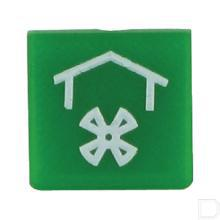 Wipschakelaar symbool dakventilator groen productfoto