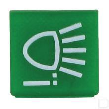 Wipschakelaar symbool groen werklicht achter productfoto