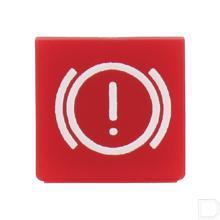 Wipschakelaar symbool elektrische rem rood productfoto