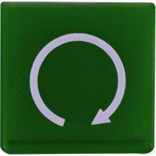 Wipschakelaar symbool groen start productfoto