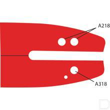 "Zaagblad Doubleguard SD A318 40cm steek 3/8""-91 aandrijfschakeldikte 1,3mm productfoto"