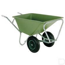 Kruiwagen met dubbele wiel polyester 160L productfoto