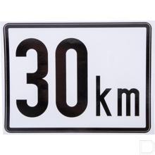 Aanduidingsbord kunststof 30km/h 200x150mm productfoto