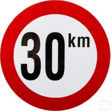 Bord 30 km PVC productfoto