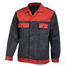 Werkjas antraciet/rood maat 54 / L productfoto