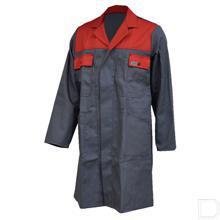 Stofjas steengrijs/rood maat 50 / M productfoto
