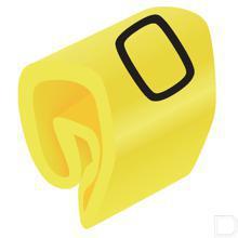 Adercodering cijfer 0 geel 1.5-4mm productfoto