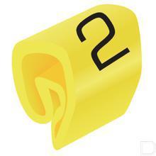 Adercodering cijfer 2 geel 1.5-4mm productfoto