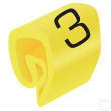 Adercodering cijfer 3 geel 1.5-4mm productfoto