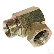 Haakse inschroefkoppeling binnendraad/buitendraad 3/4 BSP RVS316 productfoto