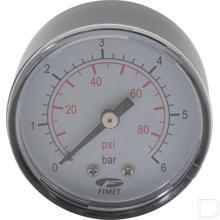 """Manometer 0-6bar 1/4"""" achteraansluiting productfoto"""