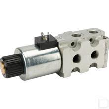 """6/2 ventiel 3/8"""" 1/2"""" 3/4"""" 12v met lekolieplug productfoto"""