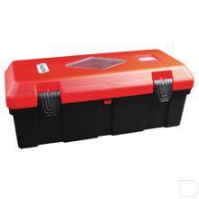 Brandblusapparaatbox 6/9kg PVC 310x675x250mm rood productfoto
