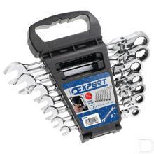 Set 7 sleutels met gelede ratel productfoto