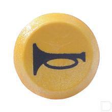 Drukschakelaar claxon 12V geel productfoto