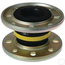 Buisverbinding gele ring Ø100 8-gaats 180mm bout cirkel EVR productfoto