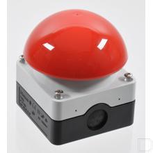Voet-/slagdrukknop 1M+1V paddenstoel rood, opbouw productfoto