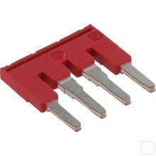 Steekbrug 6,2x23x23,1mm 4 polig, rood productfoto