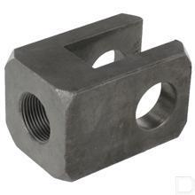 Gaffel boring ø30,25mm hoogte 90mm 60x60mm met draad productfoto