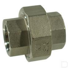"Koppeling 1/2"" 2x binnendraad nr.340 RVS productfoto"