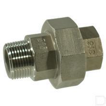 "Koppeling 1/2"" binnendraad / buitendraad nr.341 RVS productfoto"
