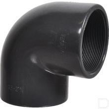 """Knie 90° 2.1/2"""" 2x binnendraad PVC-U productfoto"""