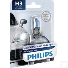 Gloeilamp 12V 55W H3 WhiteVision  productfoto