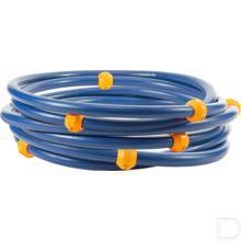 """Hogedrukslang 25m 2SC DN10 blauw 3/8"""" buitendraad, met glijballen productfoto"""