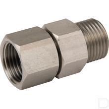 Hogedrukreiniger draaikoppeling 1/2'' Roestvast staal productfoto
