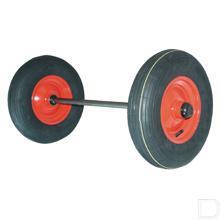 Luchtbandwielstel met as productfoto