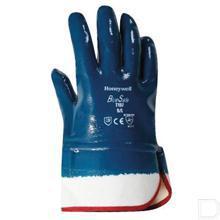 Handschoen katoen maat 9 / L blauw / wit 144stuks productfoto