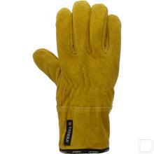 Lashandschoen Tegera runder leder maat 10 / XL geel productfoto