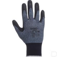 Werkhandschoen 341 maat 9 / XL zwart / grijs productfoto