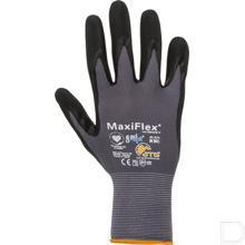 Werkhandschoen Maxiflex gebreid maat 10 / XL zwart / grijs productfoto