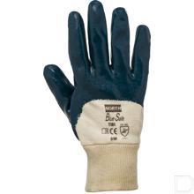 Handschoen Bluesafe katoen maat 8 / M blauw / wit productfoto