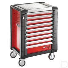 JET+3 Gereedschapswagen 9 laden rood productfoto
