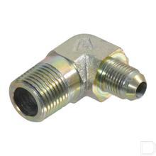 Haakse inschroefkoppeling 1/2 UNFx1/4 NPT productfoto