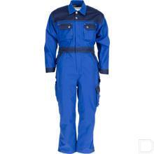 Kinderoverall koningsblauw/marineblauw 2J productfoto