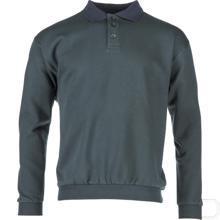 Polosweatshirt groen-marineblauw maat 4XL productfoto