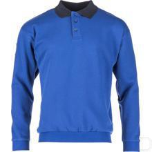 Polosweatshirt koningsblauw maat M productfoto