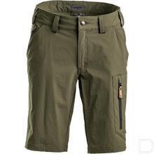 Korte broek, heren, L, Active stretch, olijfgroen productfoto