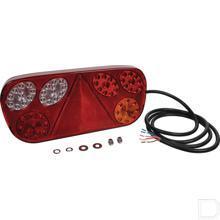 Achterlicht LED rechts rechtoek horizontale opbouw 12/24V productfoto