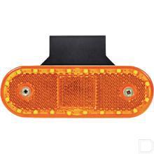Reflector met LED contourlamp zijkant productfoto