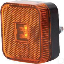 Positielamp LED met reflector vierkant opbouw zijkant  productfoto