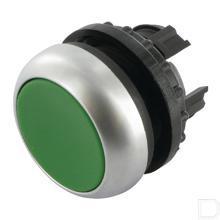 Drukknop vlak groen, terugverend productfoto