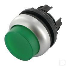 Signaaldrukknop hoog groen, terugverend productfoto
