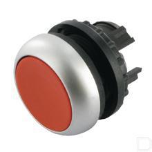 Drukknop vlak rood, terugverend productfoto