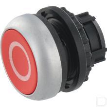 Drukknop vlak rood 0, vast productfoto