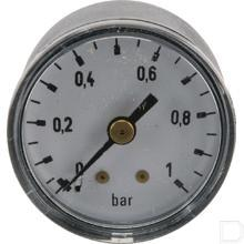 "Manometer Ø40mm 0-1bar 1/8"" achteraansluiting Staal productfoto"